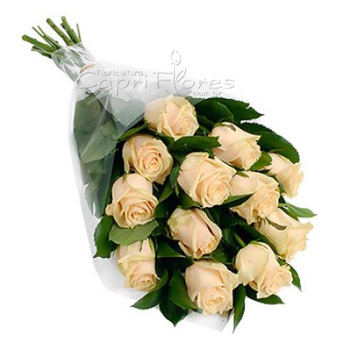 3424 ♥ Buquê Rosas Chá pro Mozão