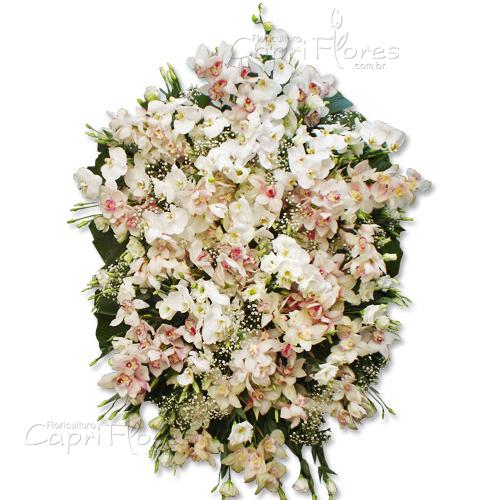 3473 Coroa de Flores Nobres com Orquideas