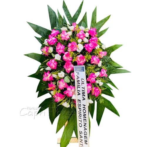 4260 Coroa de Rosas Dobradas Pink