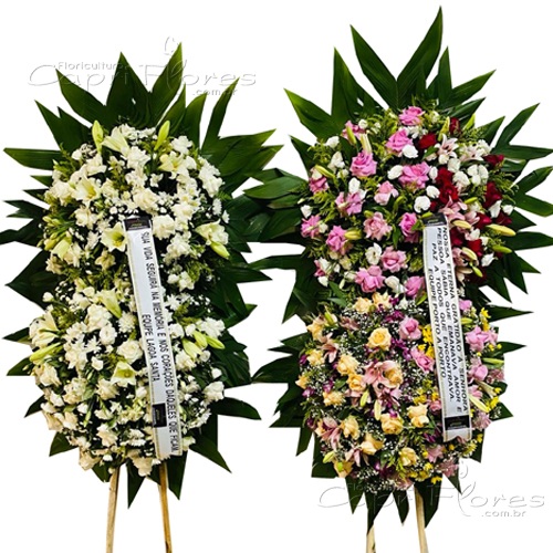 4264 Combo Coroa de Flores Nobres I e II