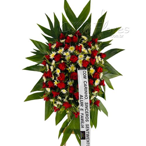 4269 Coroa de Rosas Dobradas Red I