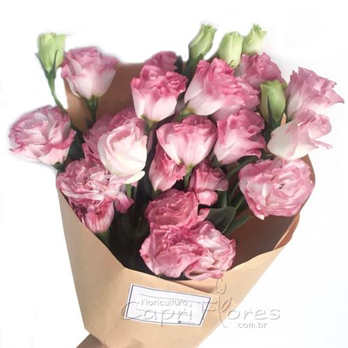 4367 ♥ Buquê de Lisianthus Rosa