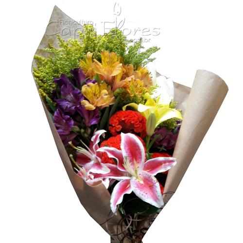 4368 ♥ Buquê com Flores mistas I