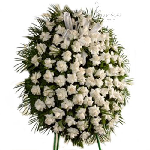 4388 Coroa de Rosas Brancas II