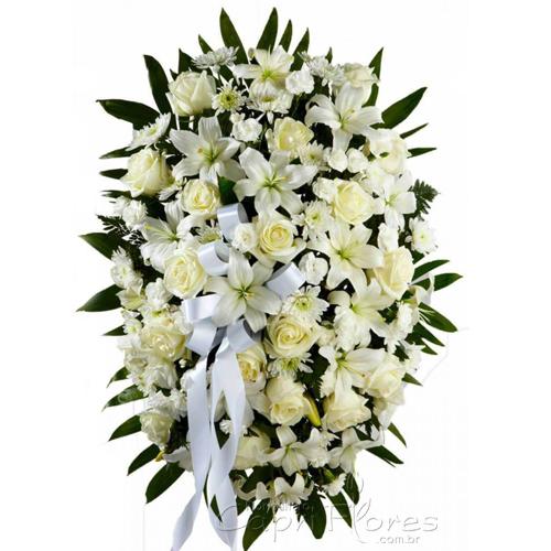 4389 Coroa de Rosas Brancas Luxo 2021