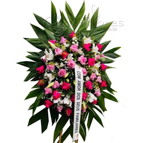 4395 Coroa de Rosas Cor de Rosa e Lírios 2021