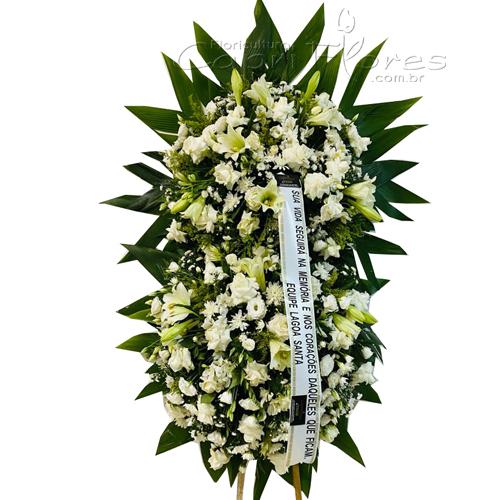 4398 Coroa de Flores Brancas I