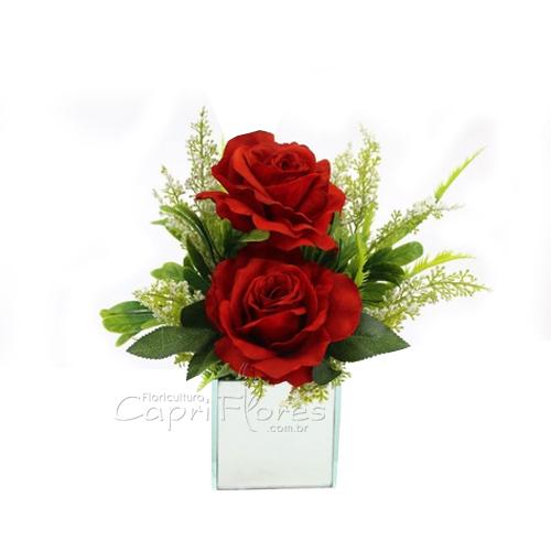 4401 ♥ Arranjo de Rosas Dobradas - Com Carinho