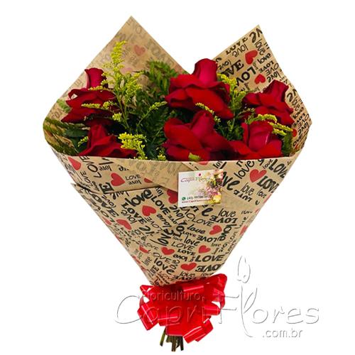 4609 ♥ Buquê Luxo de Rosas Dobradas