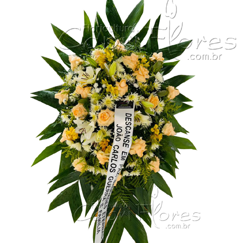 5238 Coroa de Rosas Chá e Lírio Branco II