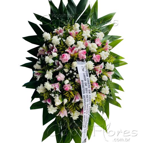 5239 Coroa Grande de Rosas e Lírios III