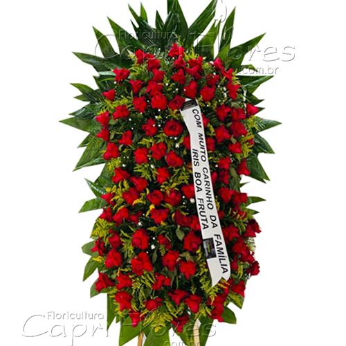 5244 Coroa Grande de Rosas Vermelhas  II