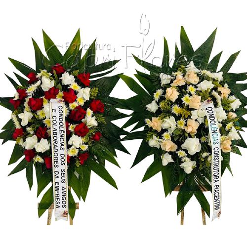5246 Kit Duas Coroa de Flores I