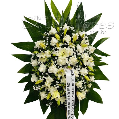 5249 Coroa de Rosas Brancas e Lírios I