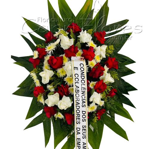 5250 Coroa de Rosas Brancas e Vermelhas I