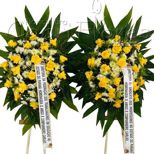 5259 Kit duas Coroa de Flores Médias