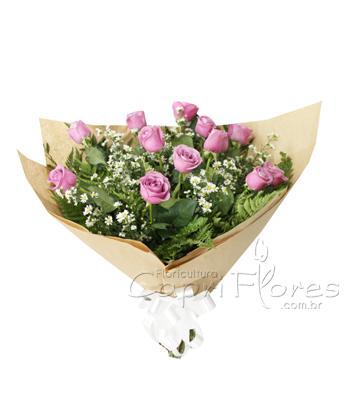 839 ♥ Lindo Buquê de Rosas Lilás
