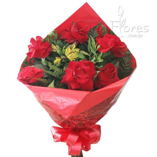 848 ♥ Buquê de Rosas Dobradas