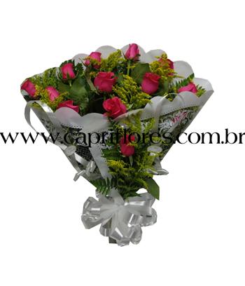 855 ♥ Buquê de Rosas Pink na