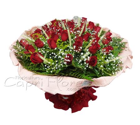 859 Buquê com 24 Rosas Decorado