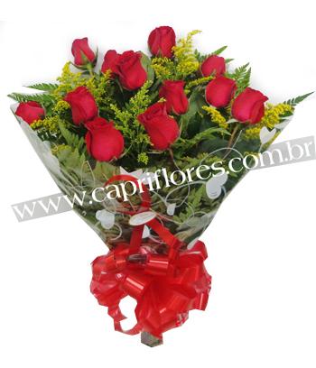 863 ♥ Super Promoçãoo !! Buquê de 12 Rosas Tradicional