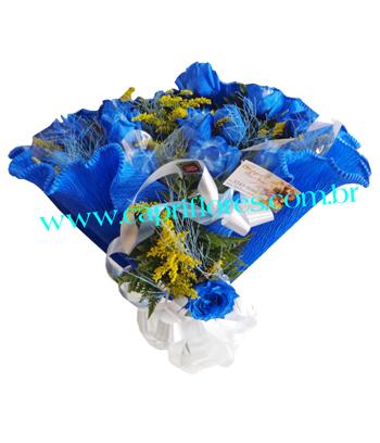 868 Azulão Bouquet de Rosas em Azul