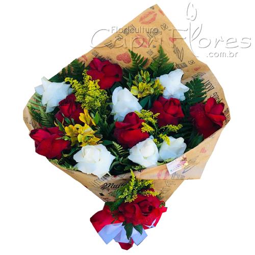870 ♥ Buque Amor Intenso - Rosas Dobradas Misto