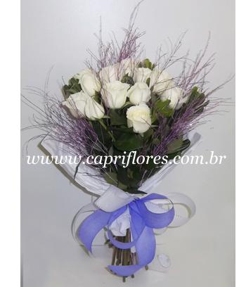 873 Buquê de Rosas Brancas PROMOÇÃO!
