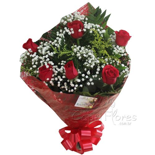 878 ♥ Meia Dúzia de Rosas Vermelha