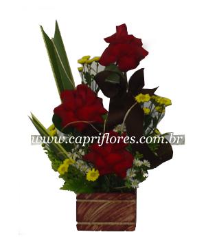 913 Super OFERTA!!! Iquibana de Rosas Importadas