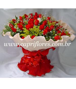 936 ♥ Super Buquê com 60 Rosas