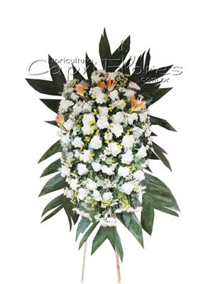 975 Coroa de Rosas Importada Branca