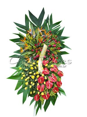 982 Coroa de Flores Grande em camadas