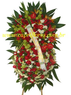 994 Coroa de Flores Grande com rosas Importadas